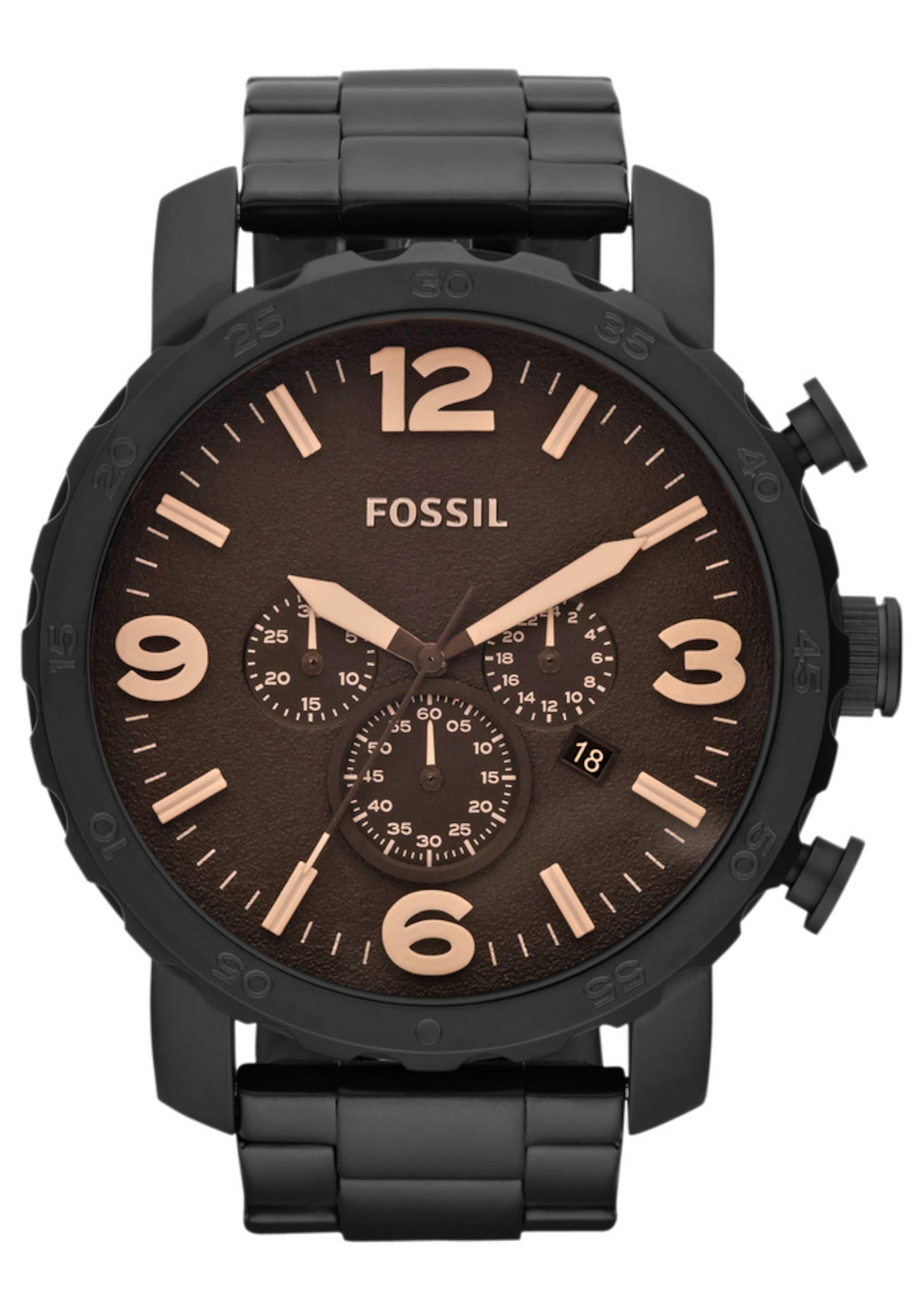'nateJr1356' BraunSchwarz Fossil 'nateJr1356' In Chronograph Chronograph In Fossil rsQhCxtd