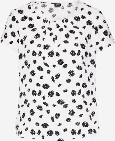 s.Oliver BLACK LABEL Bluse in gelb / schwarz / weiß, Produktansicht