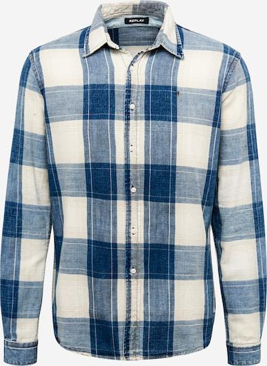 REPLAY Hemd in marine / weiß, Produktansicht