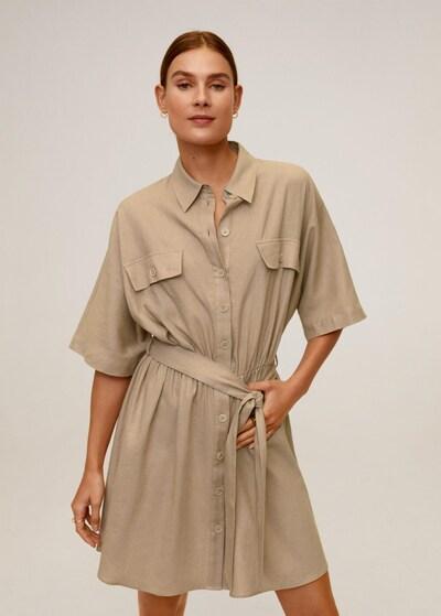 MANGO Kleid in beige, Modelansicht