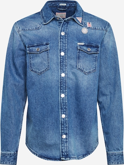 GUESS Hemd 'WEST' in blue denim, Produktansicht