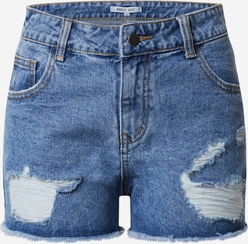 ABOUT YOU Jeansshorts 'Binia' in Blau