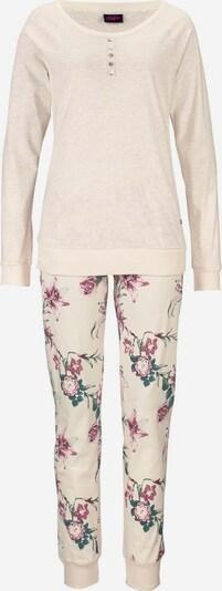 BUFFALO Langärmliger Pyjama mit Blumenprint in beige, Produktansicht