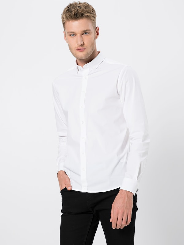 Blanc En Ls' solid 'shirtTyler Chemise odCerxB