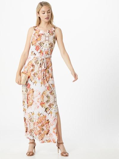 s.Oliver BLACK LABEL Kleid in gelb / koralle / rosa / schwarz / weiß: Frontalansicht