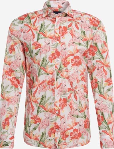 JOOP! Jeans Hemd in creme / grün / rosa: Frontalansicht