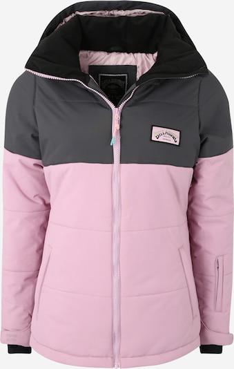 BILLABONG Sport-Jacke 'Down Rider' in dunkelgrau / rosa, Produktansicht