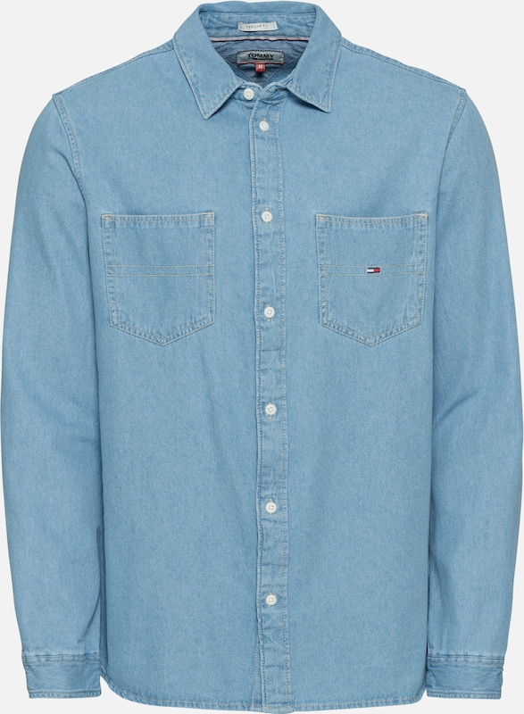 Jeans Shirt' Tommy Denim Bleu Chemise En 'tjm Pocket 1lJ3TKcF