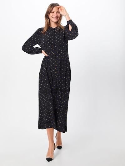 JUST FEMALE Blusenkleid 'Cassia' in dunkelgelb / schwarz, Modelansicht