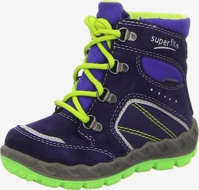 SUPERFIT Stiefel in royalblau / dunkelblau / neongelb / neongrün, Produktansicht