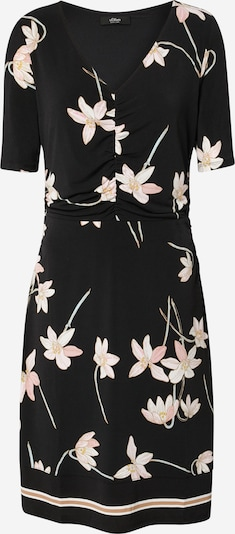 s.Oliver BLACK LABEL Kleid in altrosa / schwarz, Produktansicht