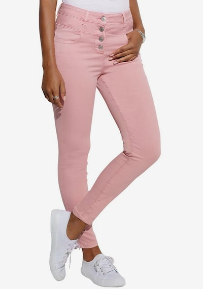 LASCANA High-waist-Jeans in altrosa, Modelansicht
