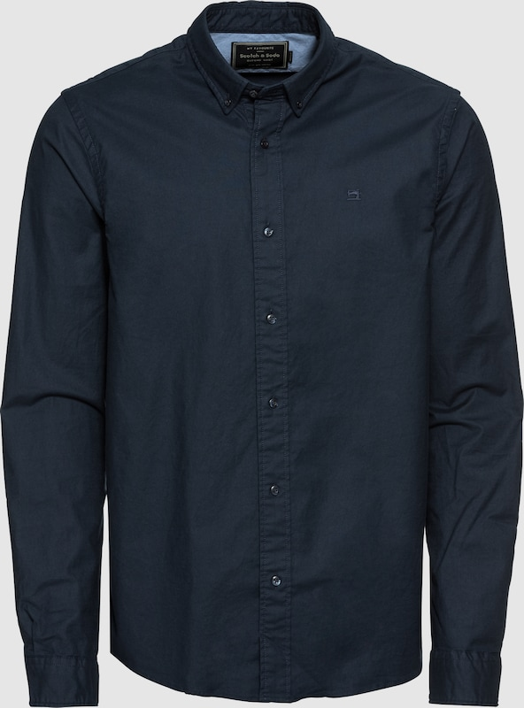 SCOTCH & SODA Hemd 'NOS Shirt with contrast details' in nachtblau  Neu in diesem Quartal