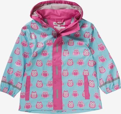 PLAYSHOES Regenmantel 'EULE' in blau / pink, Produktansicht