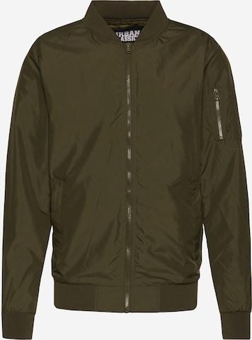 Urban Classics Between-season jacket 'Light Bomber Jacket' in Green