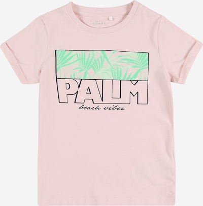 NAME IT Shirt in mint / rosa / schwarz, Produktansicht