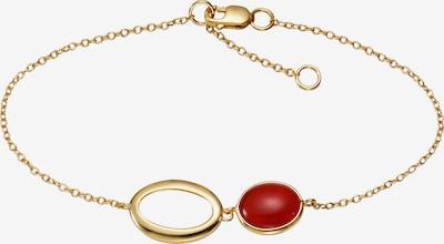Jamelli Armband in gold / blutrot, Produktansicht