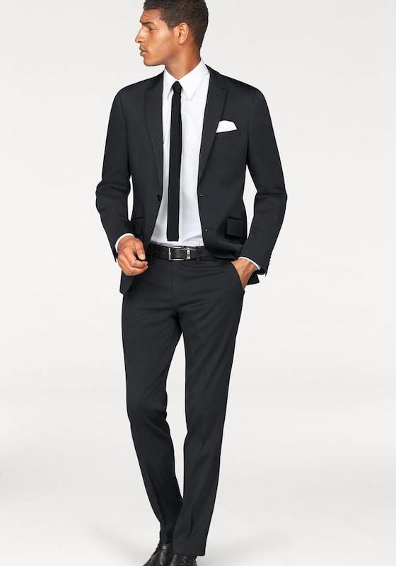 BRUNO BANANI Anzug 4-teilig (Set, 4 tlg., mit Krawatte und Einstecktuch)