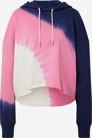 BE EDGY Sweatshirt 'BEanisa' in creme / nachtblau / pink, Produktansicht