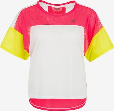 ASICS Shirt 'Style' in gelb / pink / weiß, Produktansicht