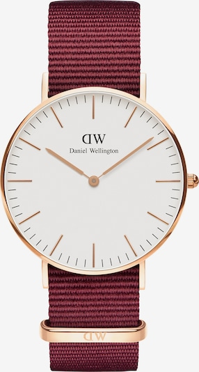 Daniel Wellington Uhr 'Classic 36 Roselyn' in rosegold / feuerrot / weiß, Produktansicht