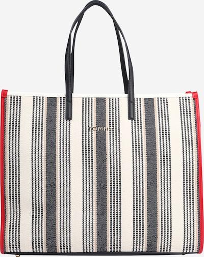 TOMMY HILFIGER Tasche 'TOMMY BEACH BAG STRIPE' in rot / schwarz / weiß, Produktansicht