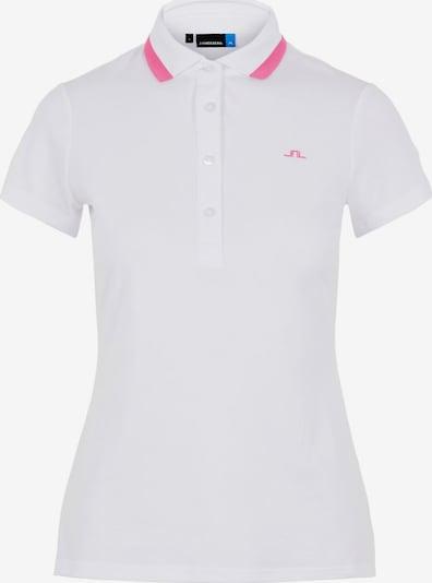 J.Lindeberg Alve Poloshirt in rosa / weiß, Produktansicht