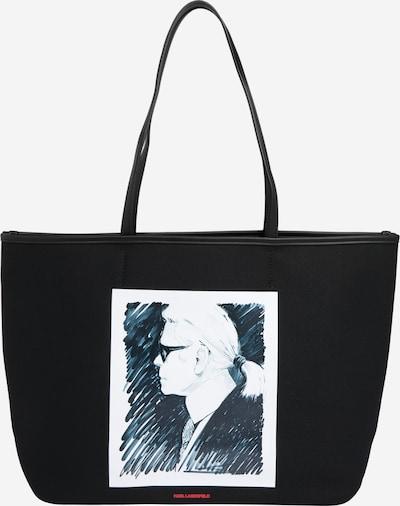 Karl Lagerfeld Tasche  'karl legend canvas tote' in schwarz / weiß, Produktansicht