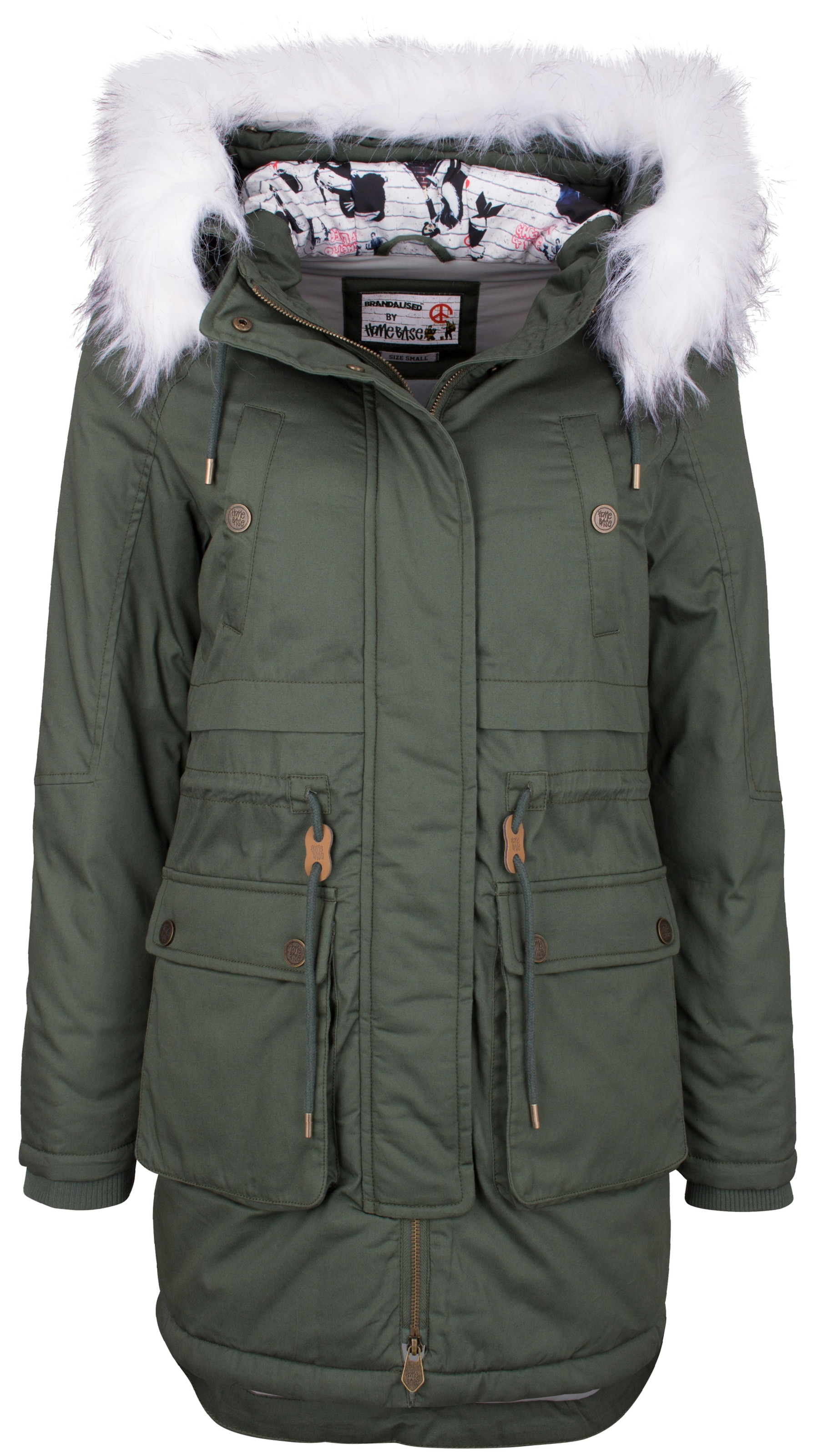 HOMEBASE HOMEBASE 'Brandalised 'Brandalised Homebase' Homebase' Homebase' 'Brandalised Parka Parka HOMEBASE by by by 6Ara6BxSn