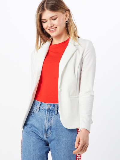 ICHI Sweat-Blazer 'Kate' in weiß, Modelansicht