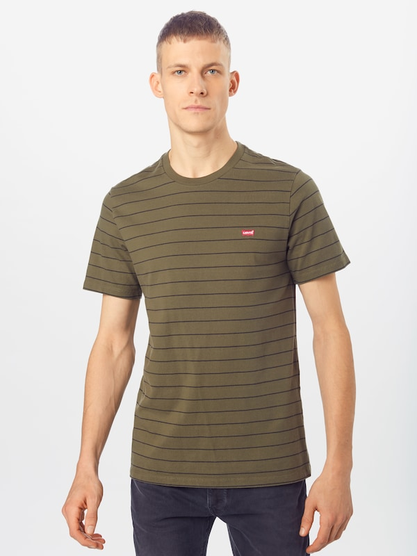 LEVI'S Shirt 'THE ORIGINAL TEE' in oliv: Frontalansicht