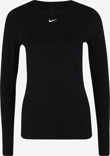 NIKE Funktionsshirt in schwarz / weiß: Frontalansicht