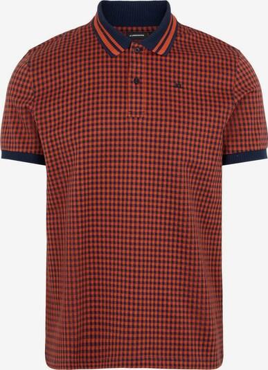 J.Lindeberg Poloshirt 'Julian Cotton' in rot / schwarz, Produktansicht