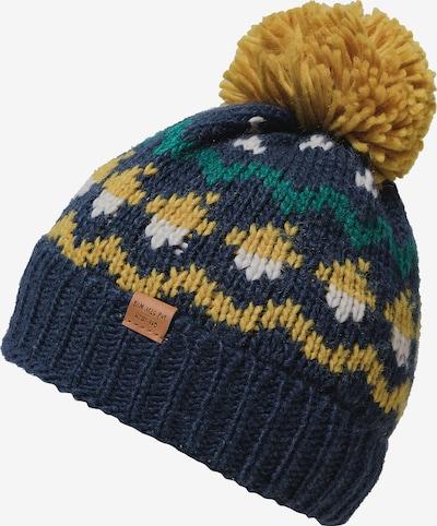 MAXIMO Mütze in dunkelblau / senf / weiß, Produktansicht