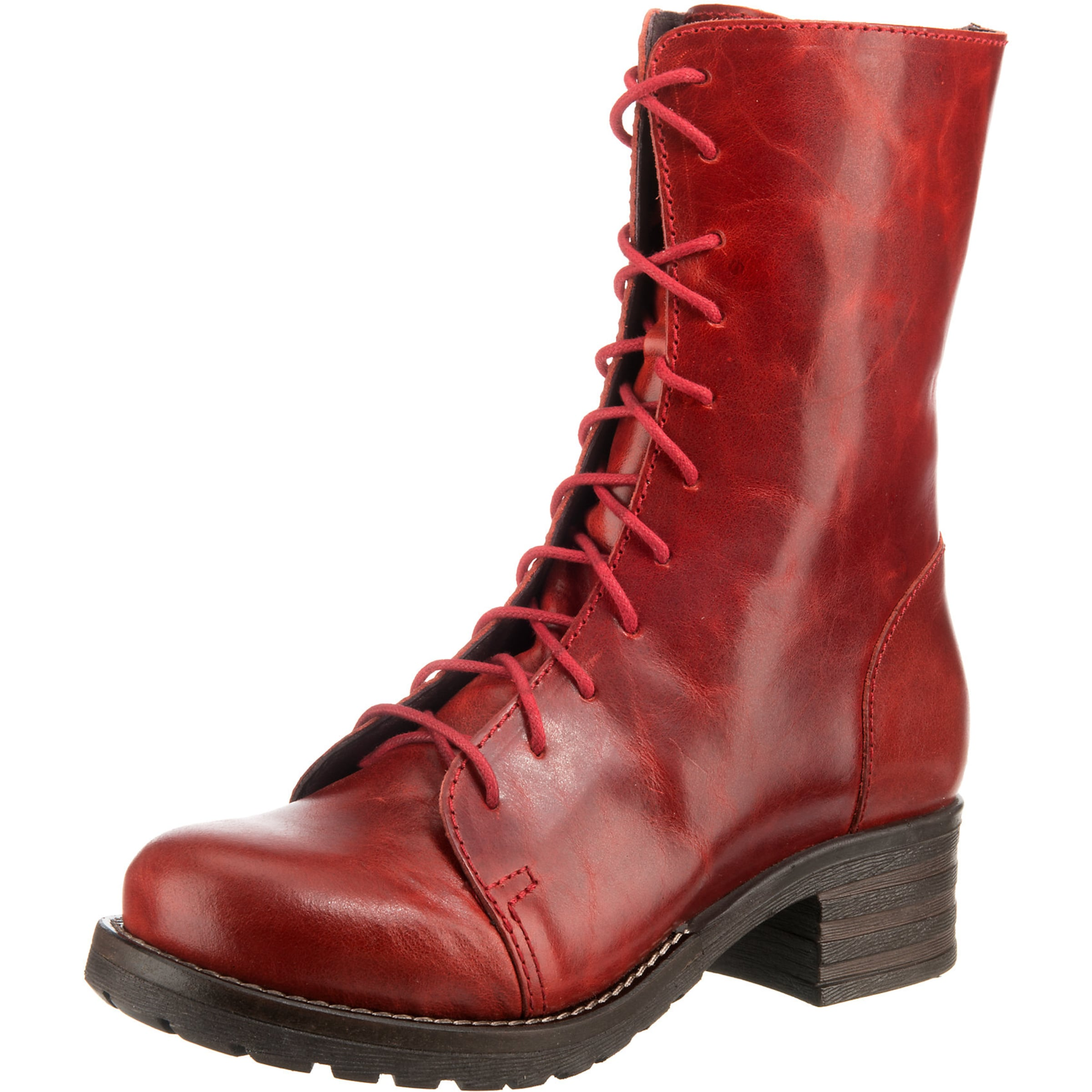 Schnürstiefelette 'military' 'military' Rot Schnürstiefelette In In Rot Brako Brako L5j34qAR