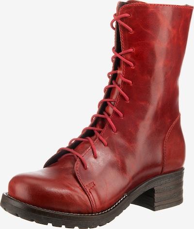 BRAKO Schnürstiefelette 'Military' in rot, Produktansicht