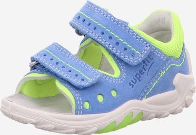 SUPERFIT Sandale  'Flow' in blau / gelb, Produktansicht