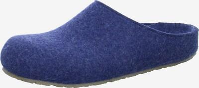 HAFLINGER Hausschuh in blau: Frontalansicht