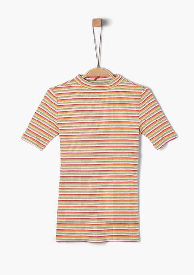 s.Oliver T-Shirt in grau / grün / rot / weiß, Produktansicht