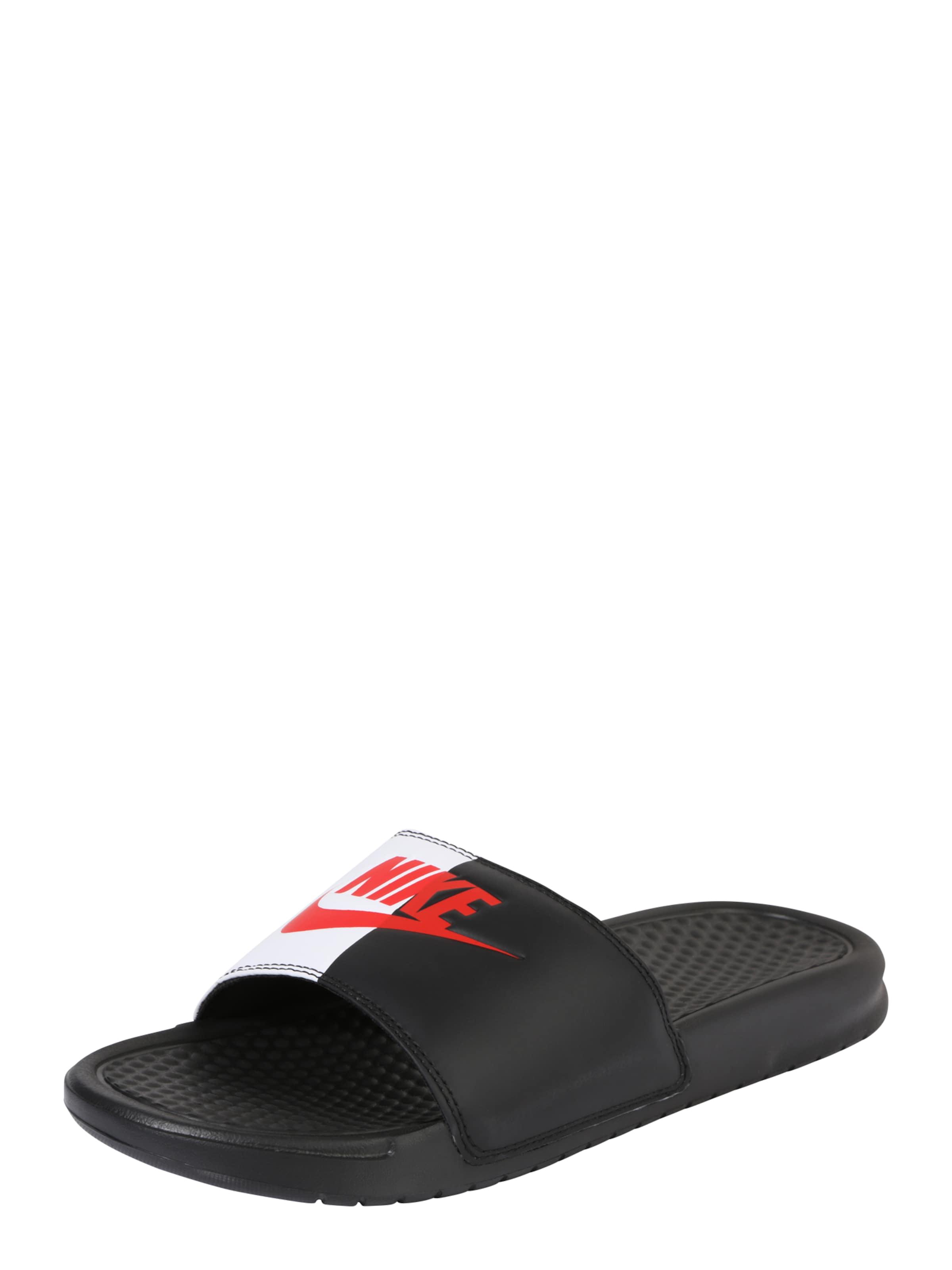Nike Mules Vêtements De Sport Benassi 'noir / Blanc yNzjUK