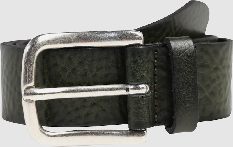 Vanzetti Leather Belt With Antique Finish