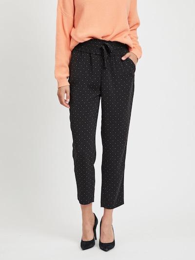VILA Hose in schwarz / weiß, Modelansicht
