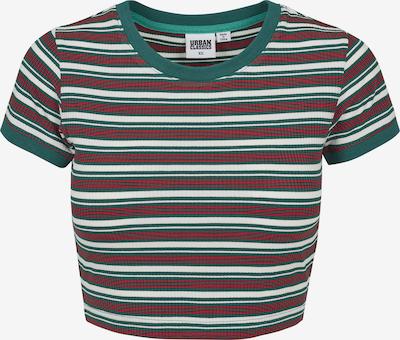 Urban Classics Shirt in grün / feuerrot / weiß, Produktansicht