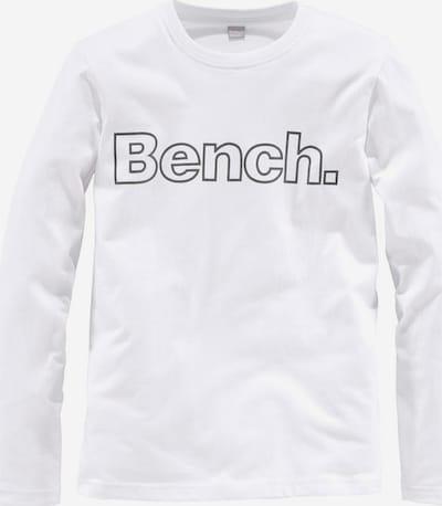 BENCH Langarmshirt in weißmeliert, Produktansicht