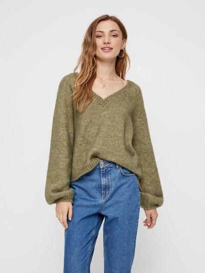 PIECES Pullover in oliv, Modelansicht