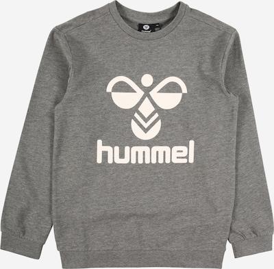 Hummel Sweatshirt 'DOS' in graumeliert / weiß: Frontalansicht