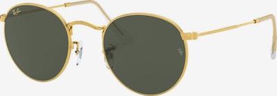 Ray-Ban Lunettes de soleil 'Round metal' en or / noir, Vue avec produit