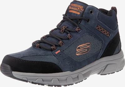 SKECHERS Sneaker 'Oak Canyon Ironhide' in navy / taubenblau / orange, Produktansicht