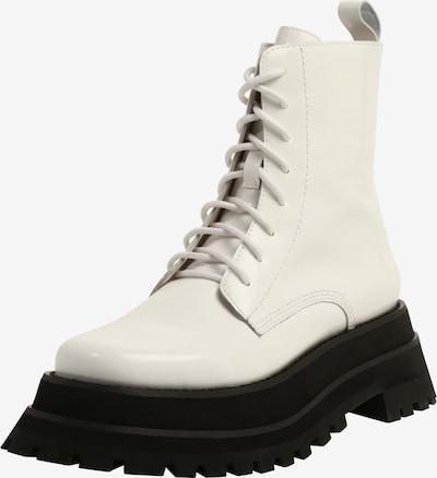 Jeffrey Campbell Veterlaarsjes 'MECHANIC' in de kleur Wit, Productweergave