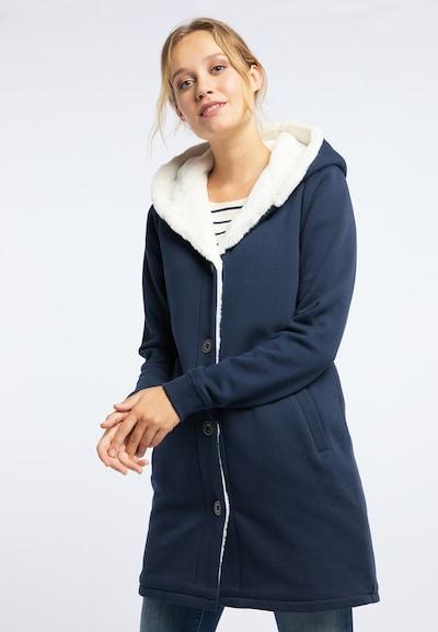 DREIMASTER Sweatmantel 'Vintage' in ultramarinblau / weiß, Modelansicht